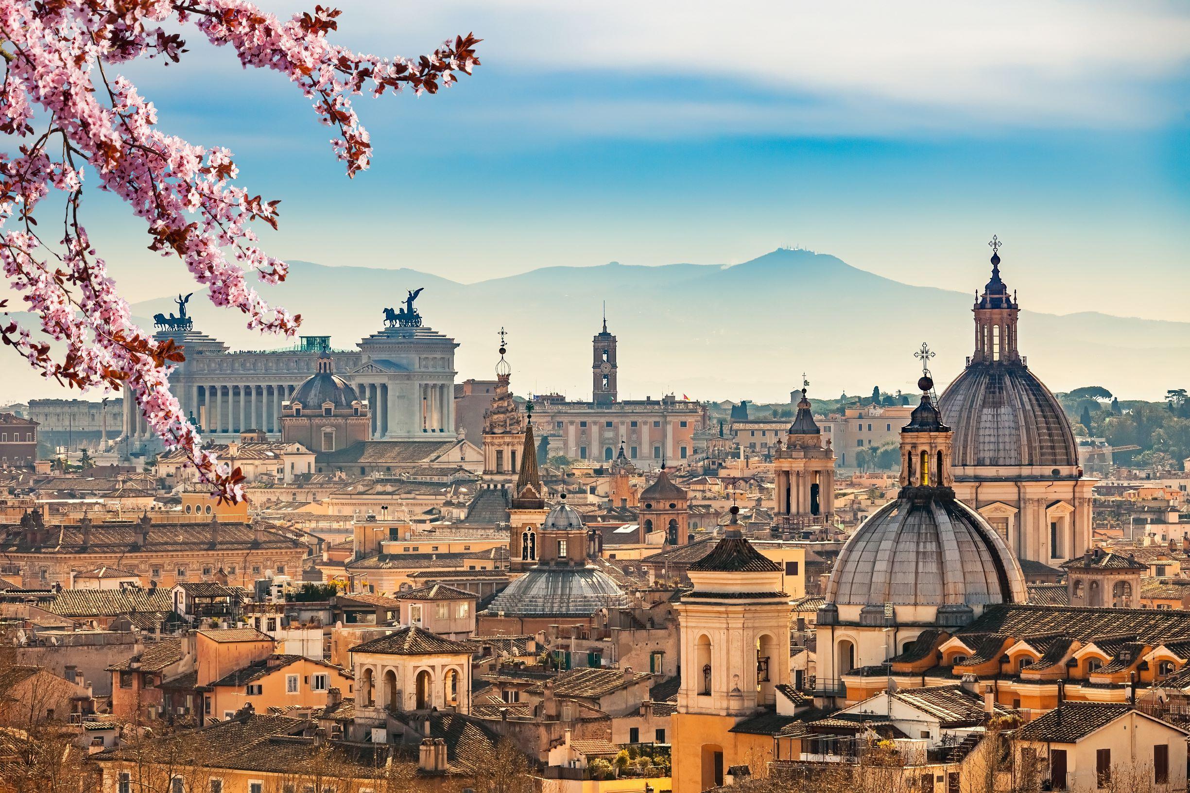 Widok Rzymu z Castel Sant'Angelo