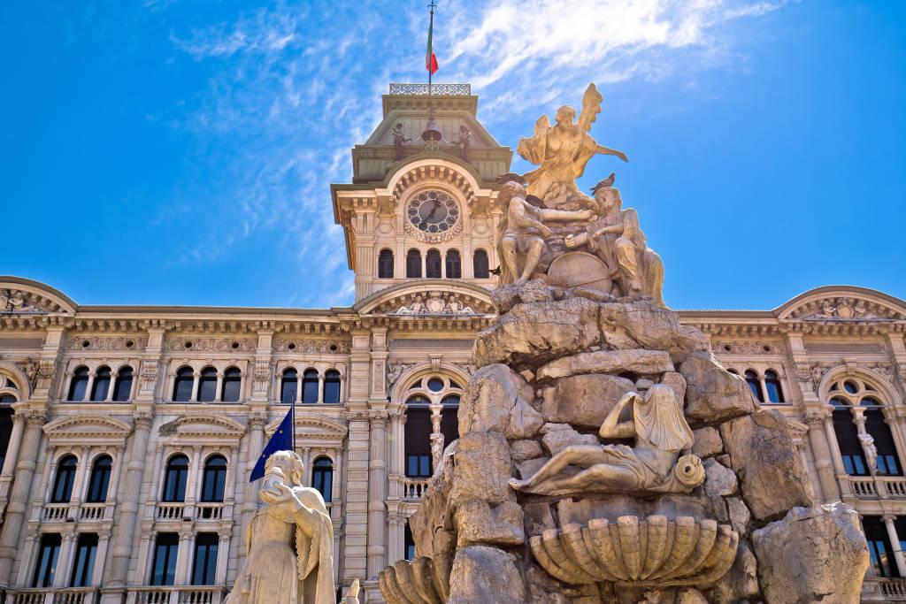 Trieste city hall on Piazza Unita d Italia square view, Friuli Venezia Giulia region of Italy