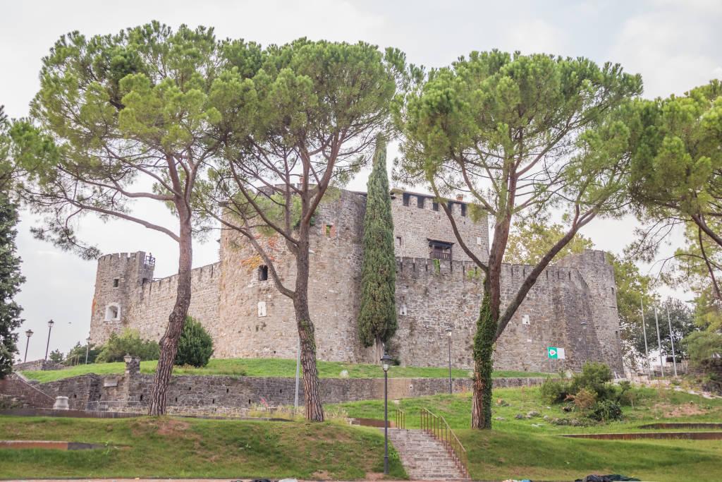 beautiful view of historic Castle in Gorizia, Italy