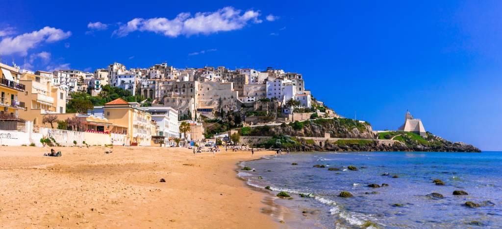 Charming Sperlonga town with nice beaches in Lazio region of Italy