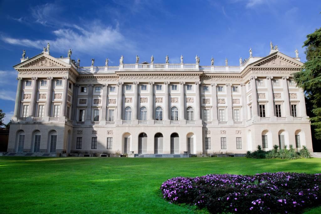 Galleria d'Arte Moderna in Milan, Italy, View from Giardini Di Villa Reale Comunale.
