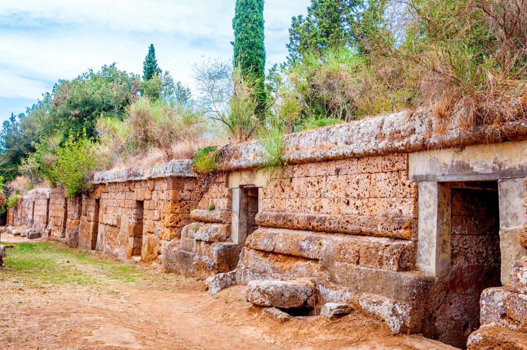 Necropolises of Tarquinia and Cerveteri in Italy