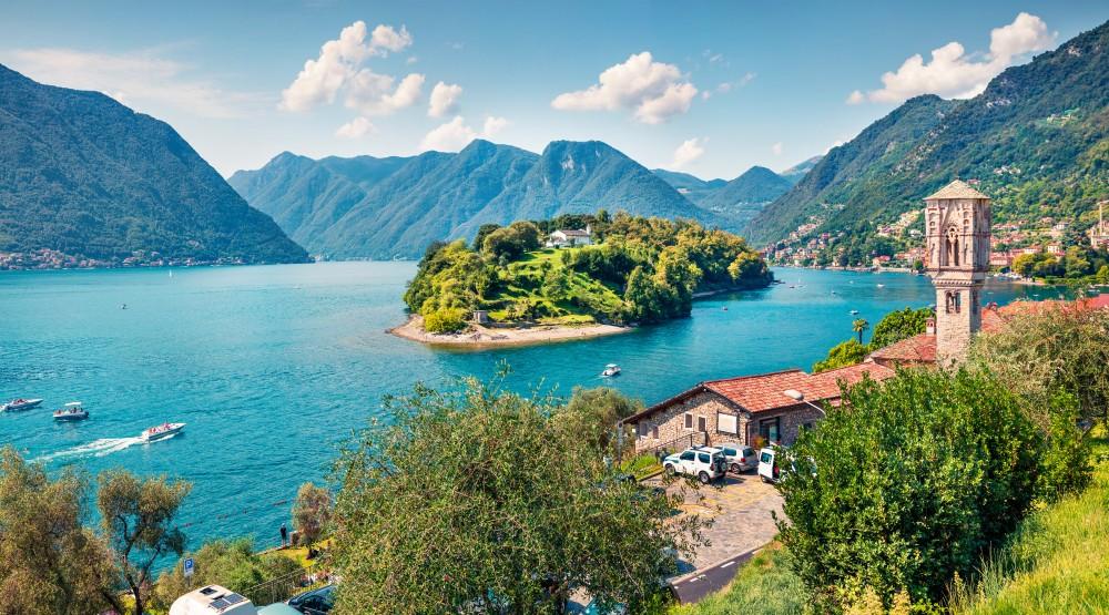 Wyspa Comacina, jezioro Como, Włochy