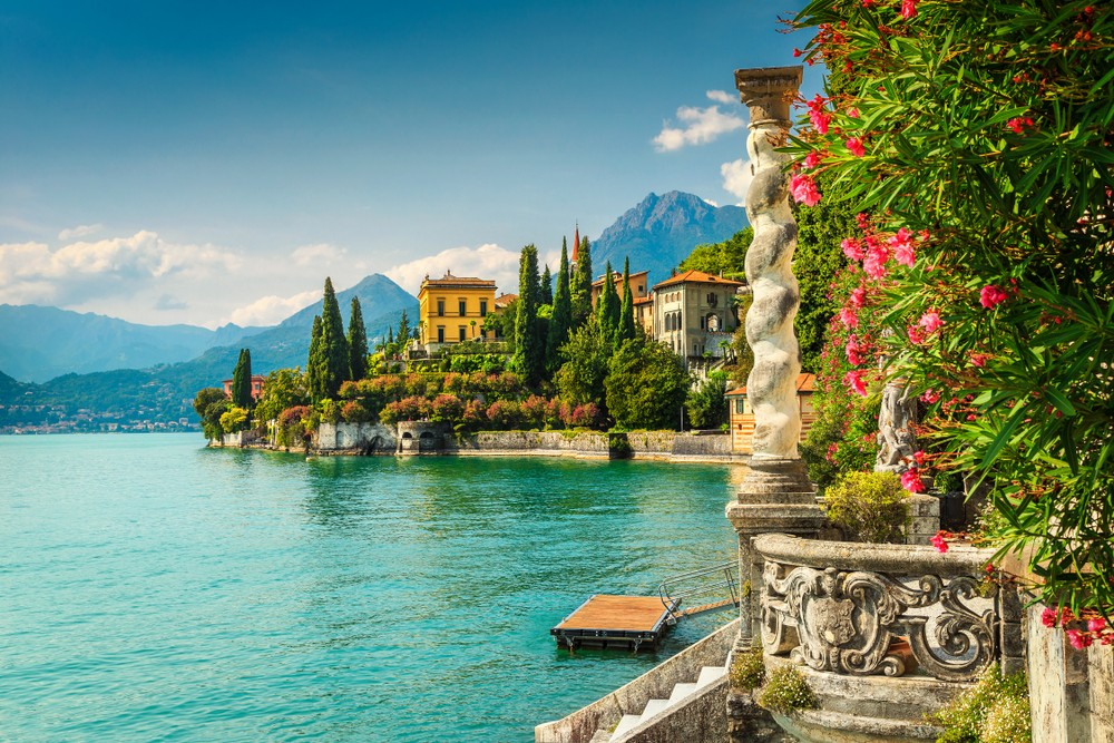 Słynna luksusowa willa Monastero, jezioro Como