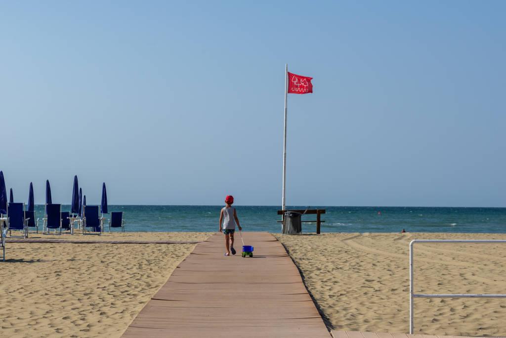 bibione pineda beach views during the summer season, Bibione, Venice, Italy