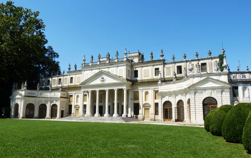 Stra / Venezia, Italy - August 16, 2018: Villa Pisani, one of the most famous venetian villas in northern Italy.