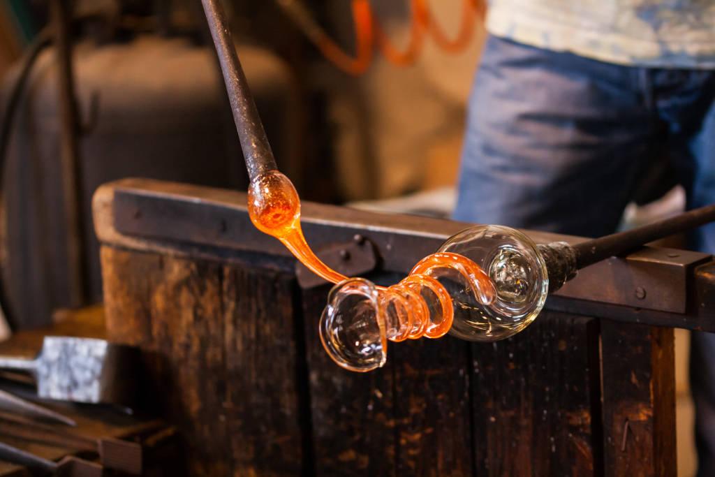 The processing of Murano glass, Venice, Veneto, Italy