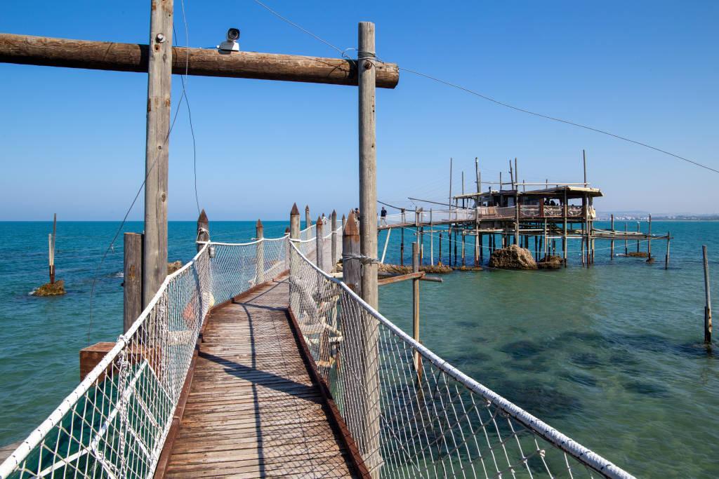 trabocchi coast adriatic sea vasto Ortona italy europe