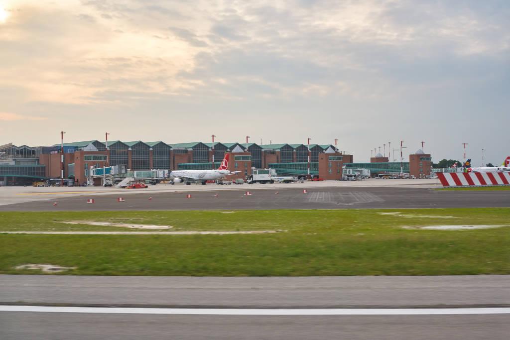 VENICE, ITALY - CIRCA MAY, 2019: a view of Venice Marco Polo Airport