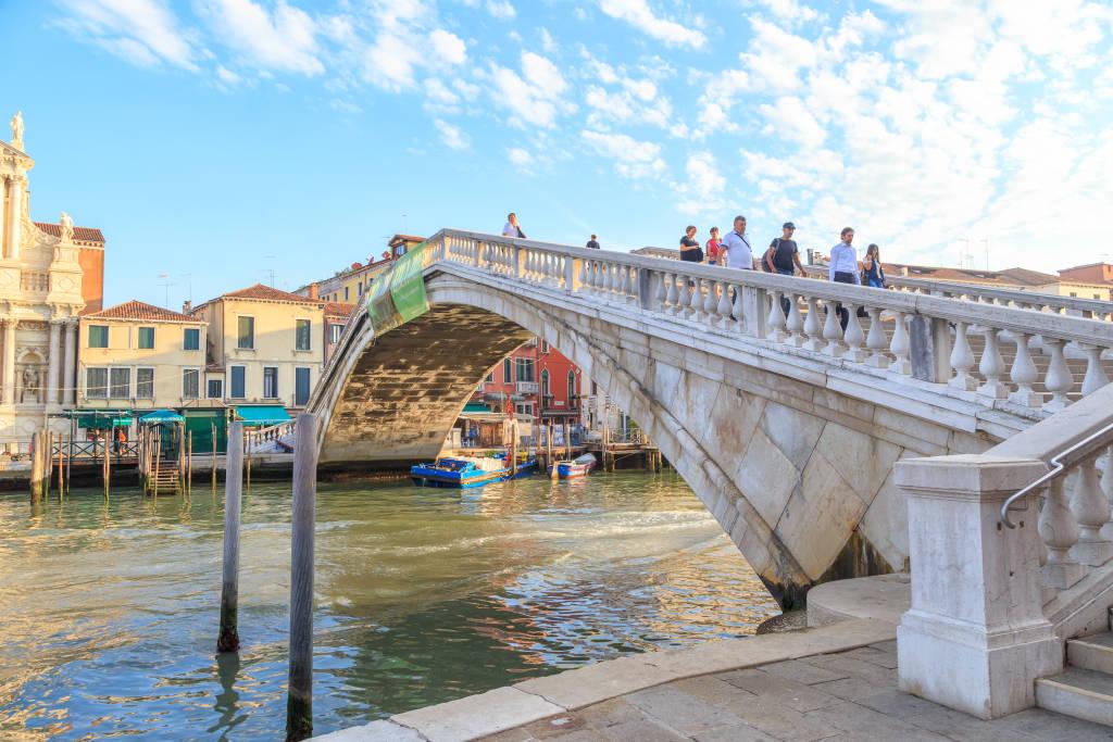 Venice, Italy - July 16, 2019: Scalzi Bridge - Ponte degli Scalzi