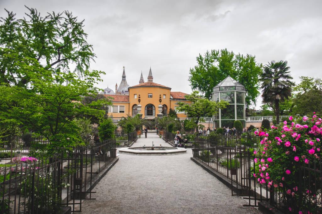 View of the old Orto Botanico di Padova (Botanical Garden of Padua), one of the Unesco word heritage  (Padua, Italy, 24 Apr 2017)