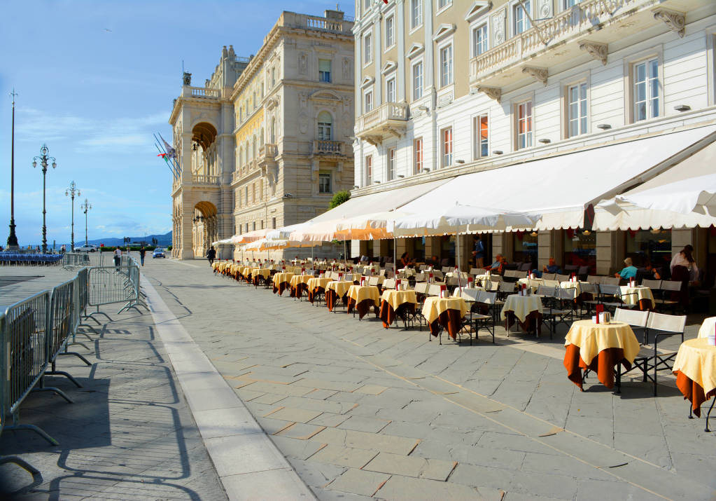 Beautiful architecture and buildings of Trieste, Italy