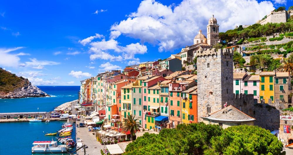 Beautiful coastal town Portovenere in Cinque terre national park, Liguria, Italy