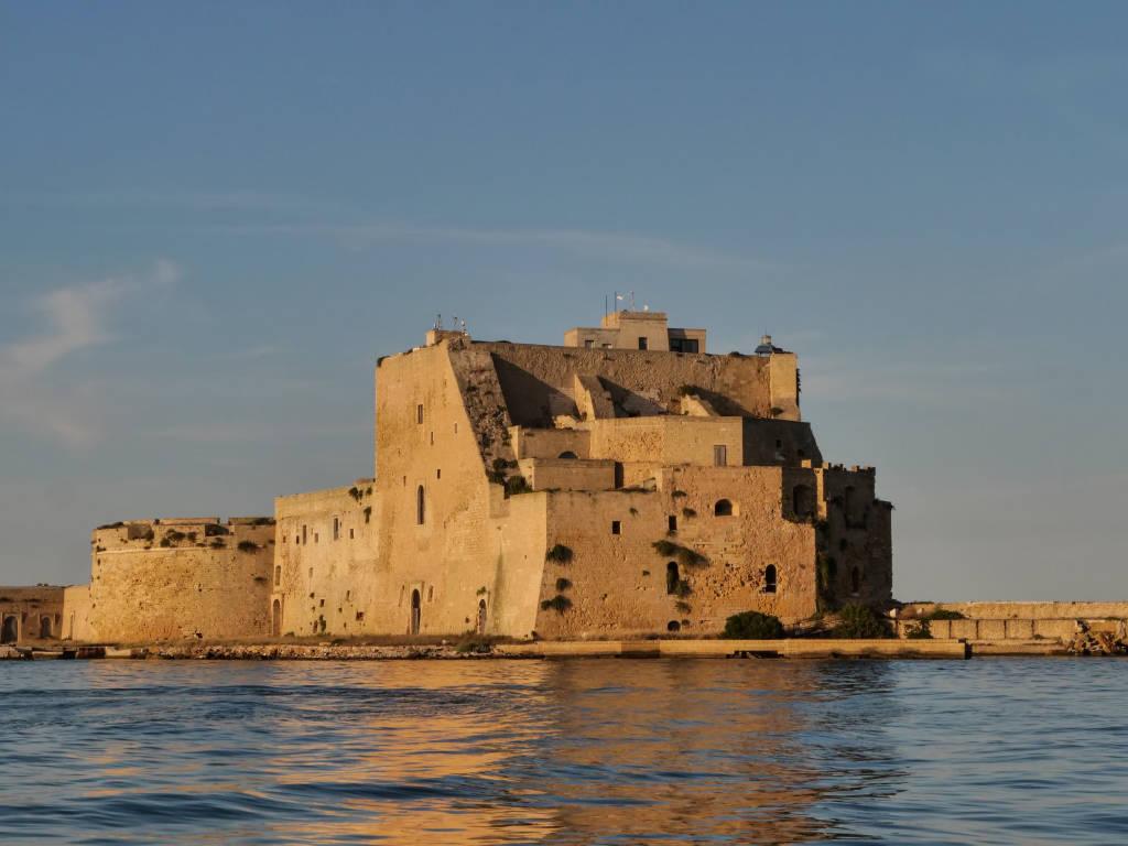 Castle Alfonsino of Brindisi. castle of sea