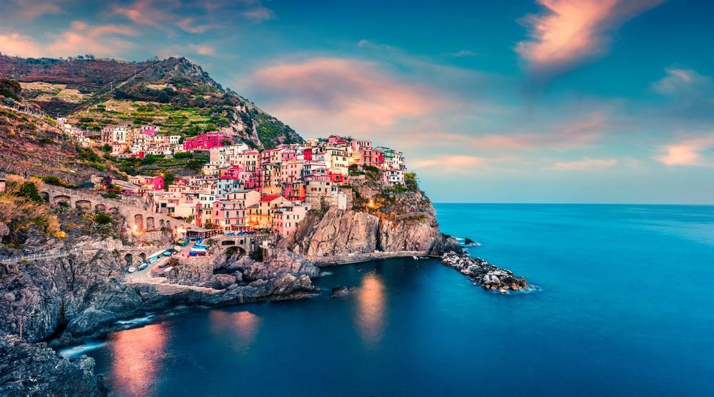 miasto Cique Terre Liguria Włochy