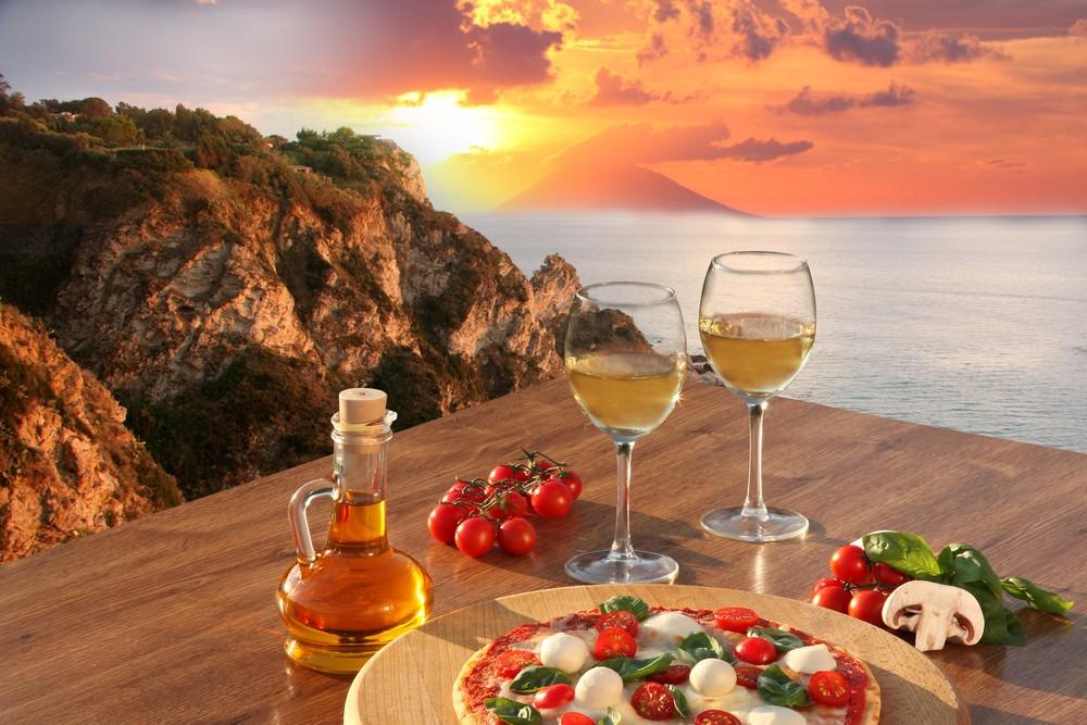 potrawy i wino z Kalabrii