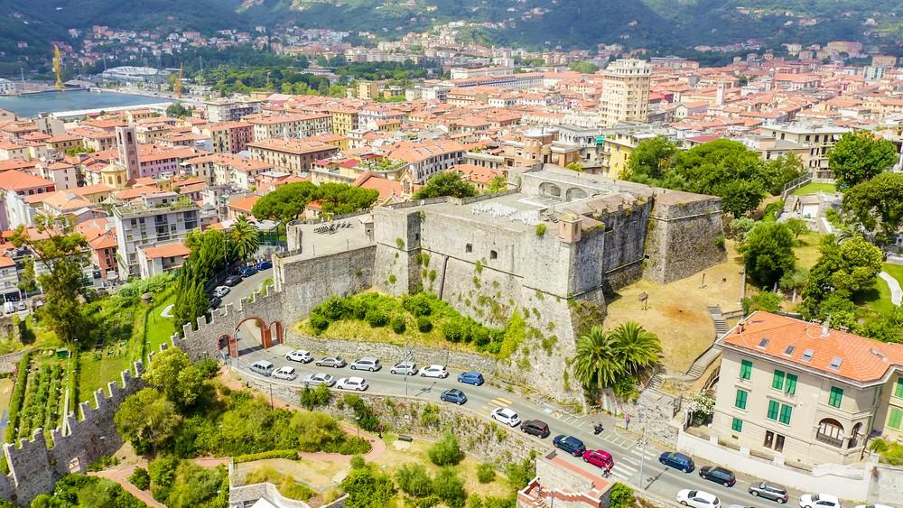 La Spezia, Italy. Castle of San Giorgio. View from above, Aerial View