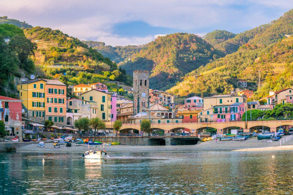 Monterosso al Mare, old seaside villages of the Cinque Terre on the Italian Riviera in Italy