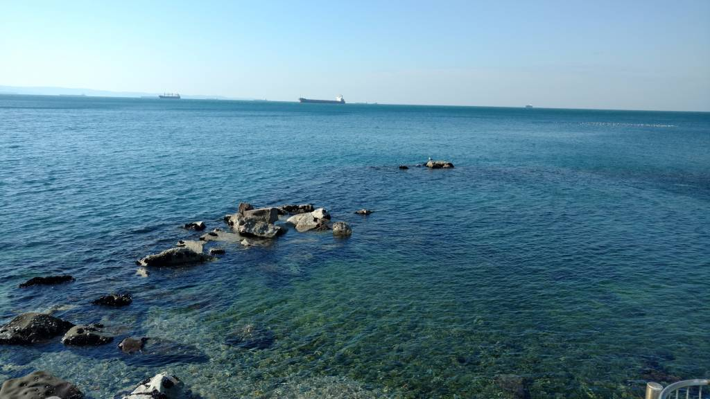 Sea landscape, Gulf of Trieste , Barcola seafront, Italy