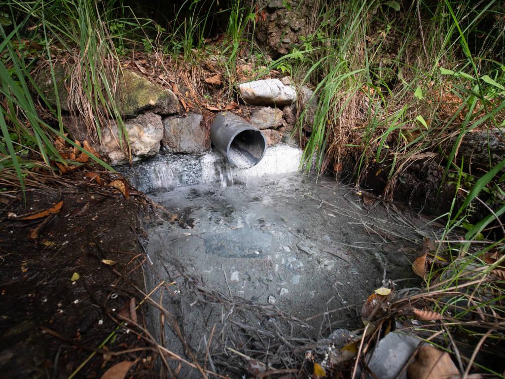 sulphurous water source, thermal baths of Caronte, Lamezia Terme, Calabria, Italy