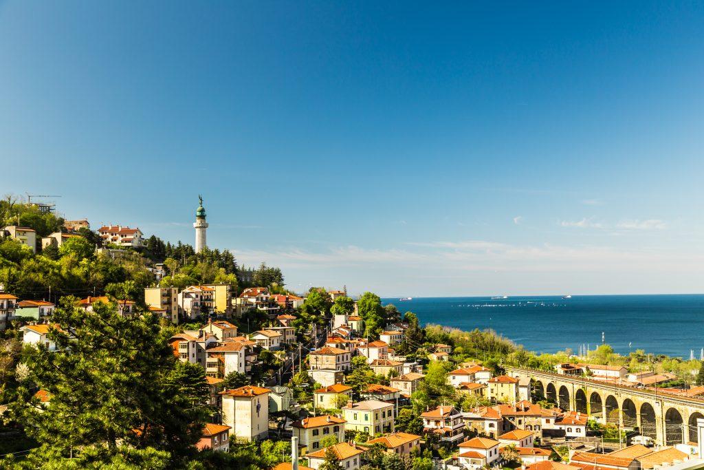 Spring sunny day in the bay of Trieste