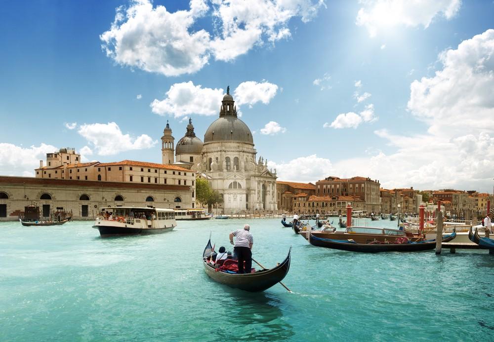 Wielki Kanał i Bazylika Santa Maria della Salute, Wenecja,