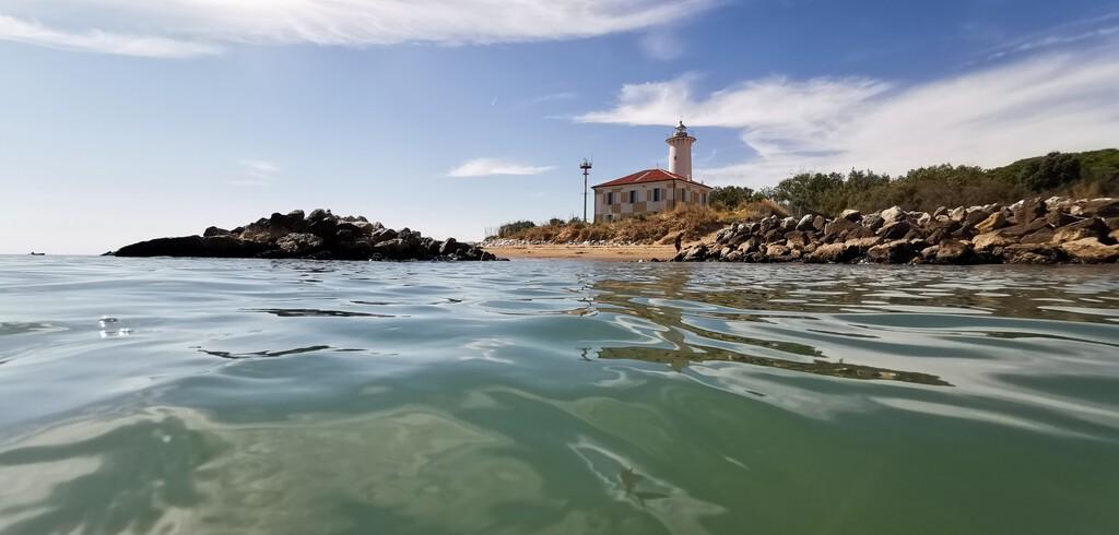 Lighthouse,In,Bibione,Lido,Dei,Pini,Beach,,Venetien,,From,The