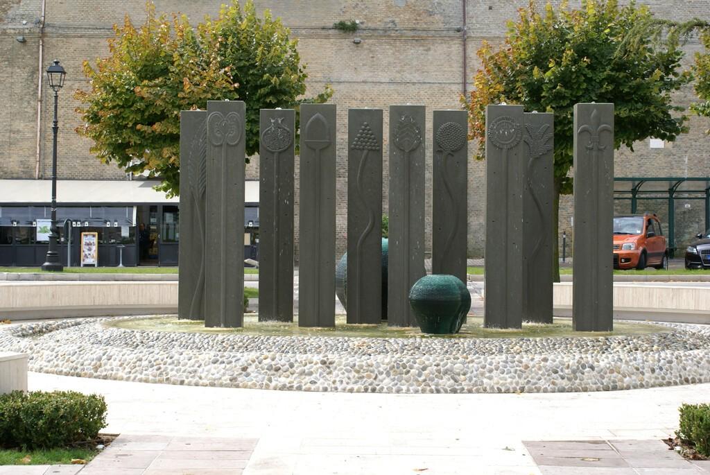 Castelfidardo,,Marche,(italy), ,September,30,2012:,Fountain,Of,Porta