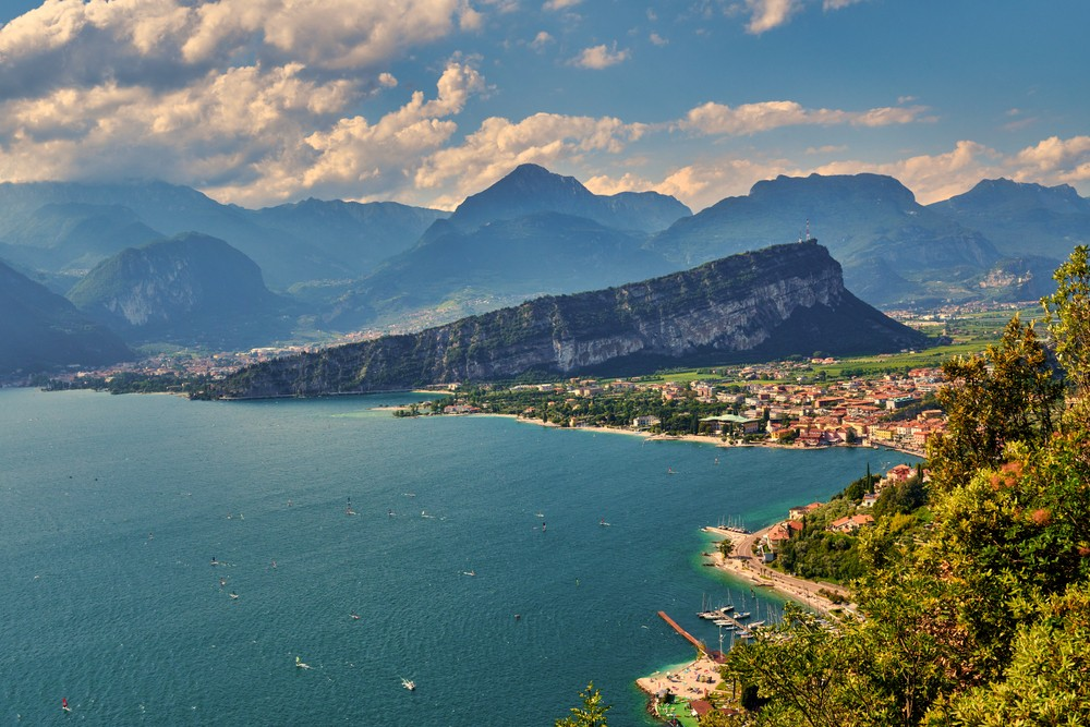 Panoramic,View,On,Lake,Garda,From,The,Busatte Tempesta,Trail,Near