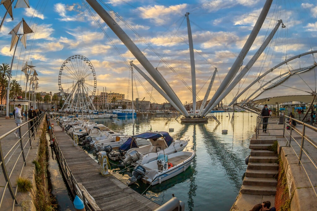 Genoa,,Italy, ,March,20,,2021:,View,Of,Port,Of