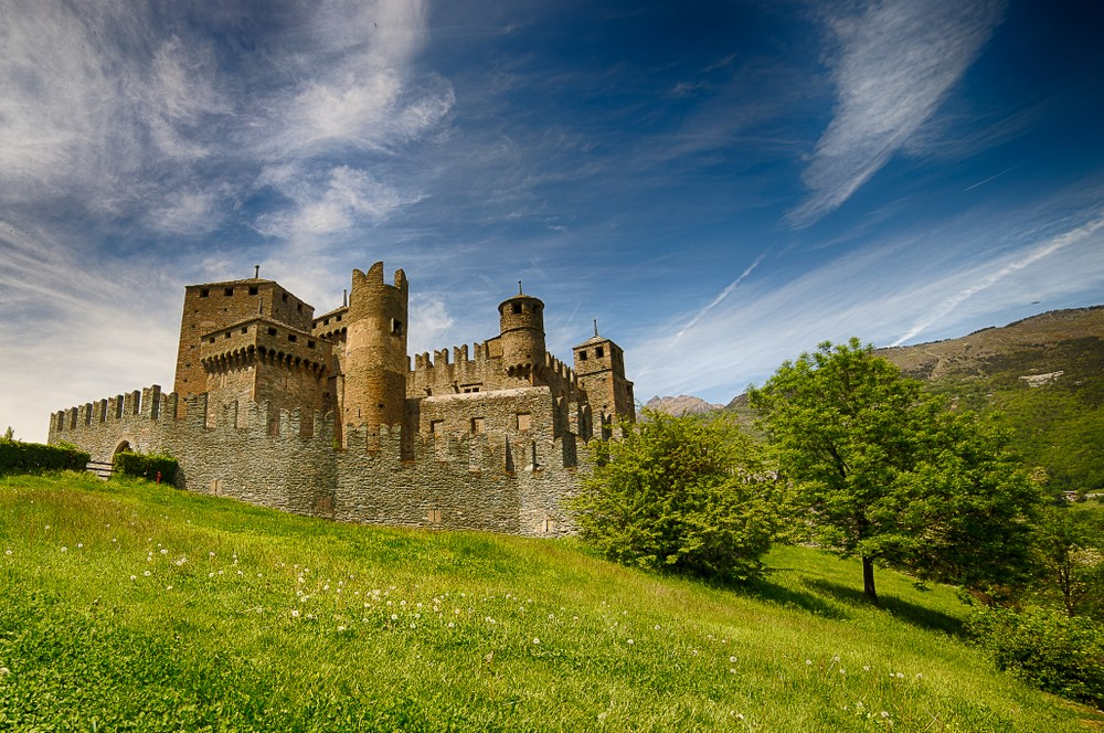 Fenis,Castle,Close,To,Aosta,Italy