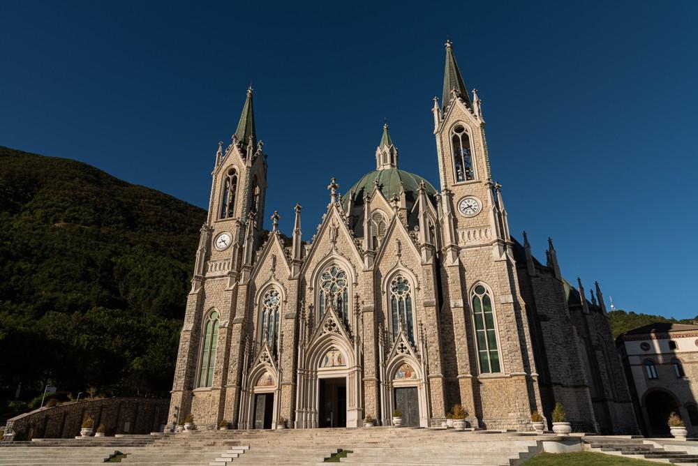 Castelpetroso, Isernia, Molise. Sanctuary of the Madonna Addolorata.