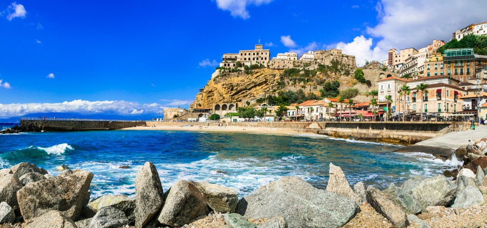 Italian summer holidays -Pizzo Calabro - beautiful coastal town in Calabria, Italy