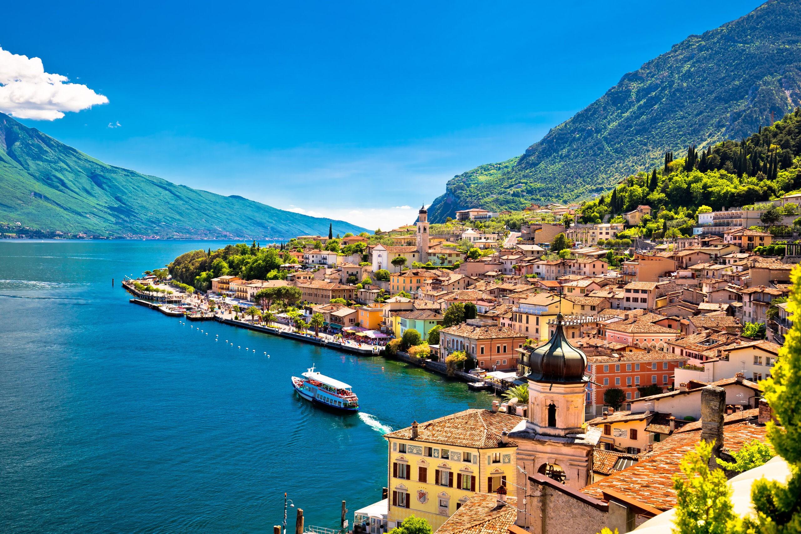 Jezioro Garda, kempingi nad jeziorem, Włochy