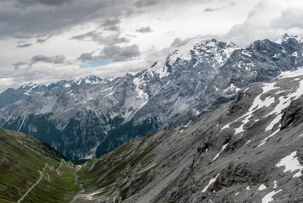 View from Stelvio Pass, Passo dello Stelvio