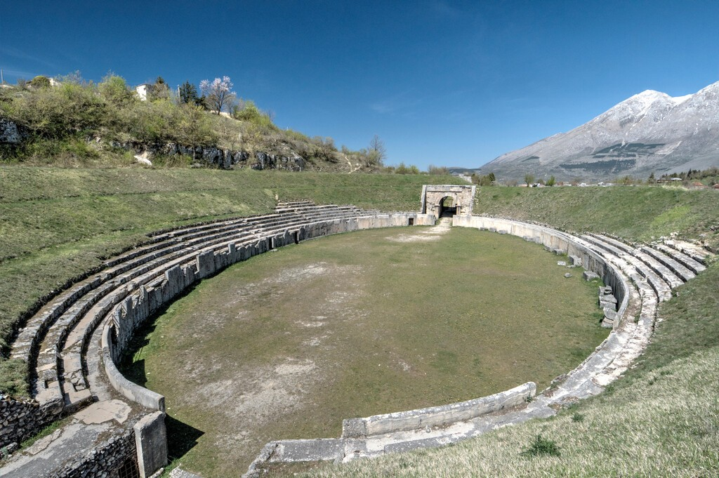 Alba Fucens, the ruins of ancient Roman town in central Italy