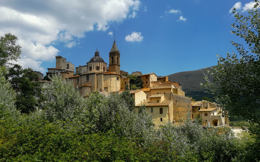 Beautiful medieval town of Cocullo in the Abruzzo mountains in Italy
