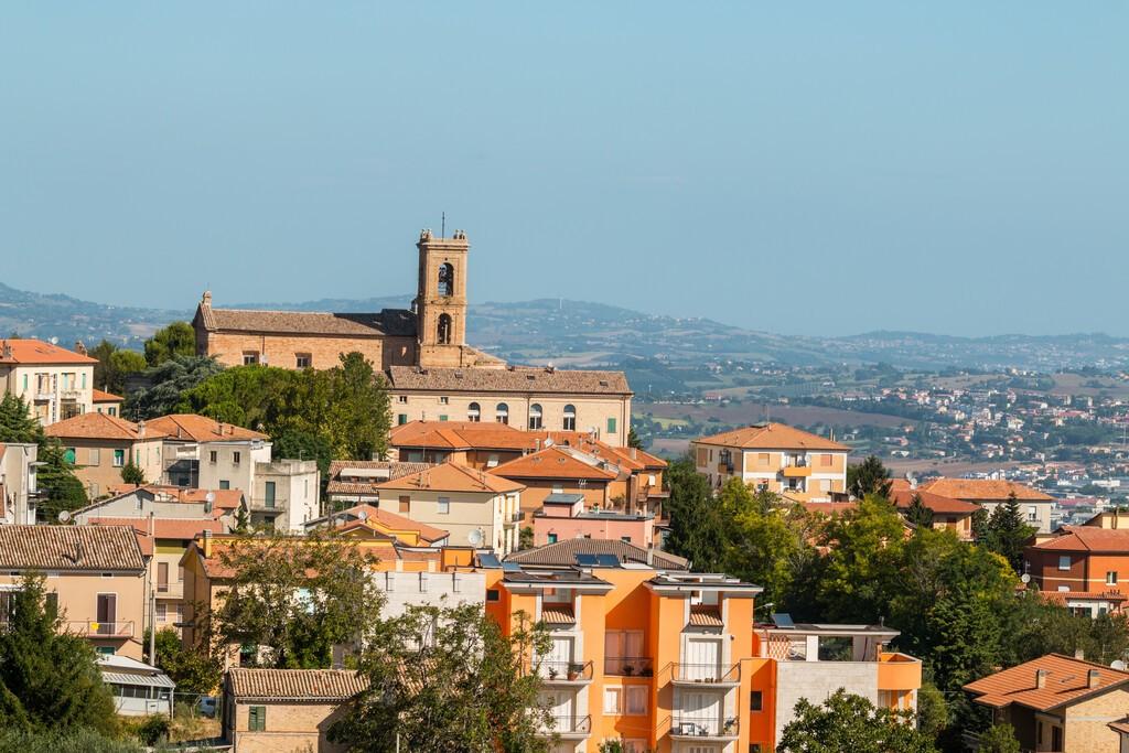 Historical center of Recanati, Macerata, Marche, Italy