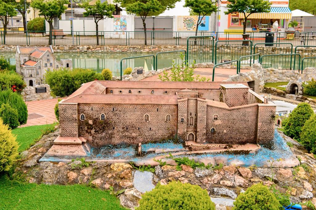 RIMINI, ITALY - MAY 11, 2016: Castello di Lagopesole,  Italy in miniature, a thematic park in Emilia Romagna. It was found by Ivo Rambaldi in 1970