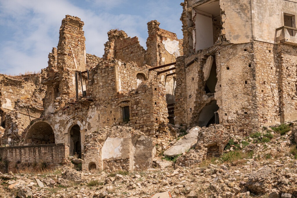 The abandoned village of Craco in Basilicata, Italy
