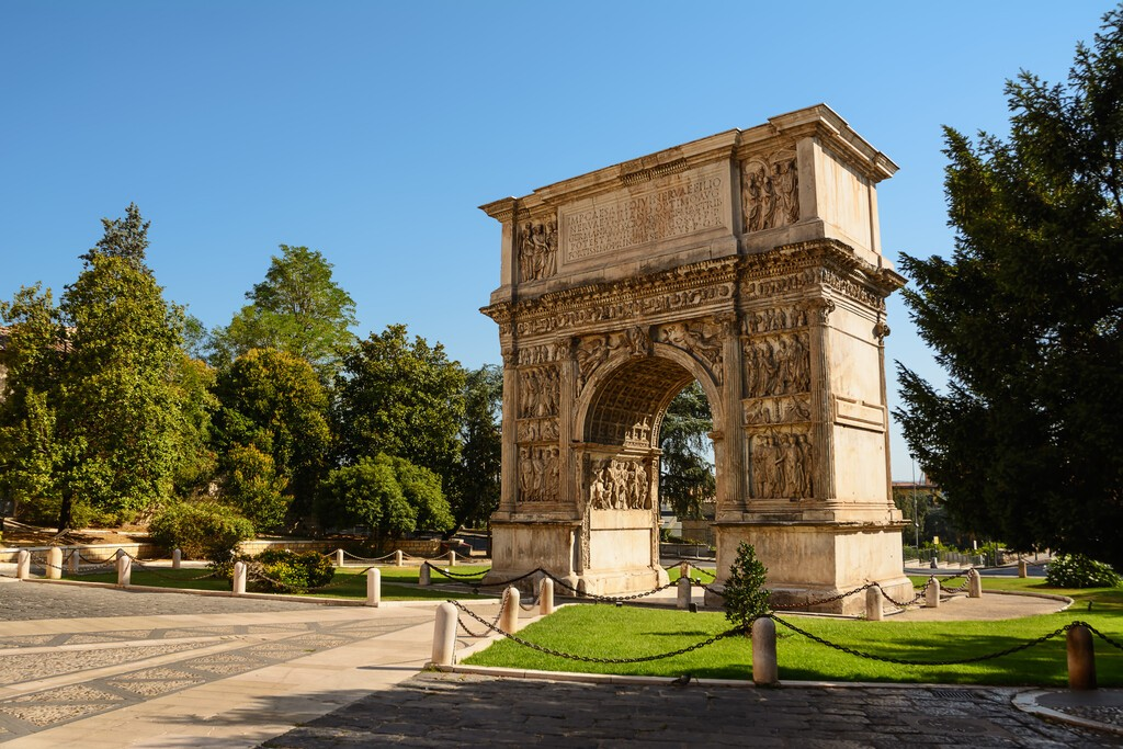 The Arch of Trajan in Benevento (Italy)