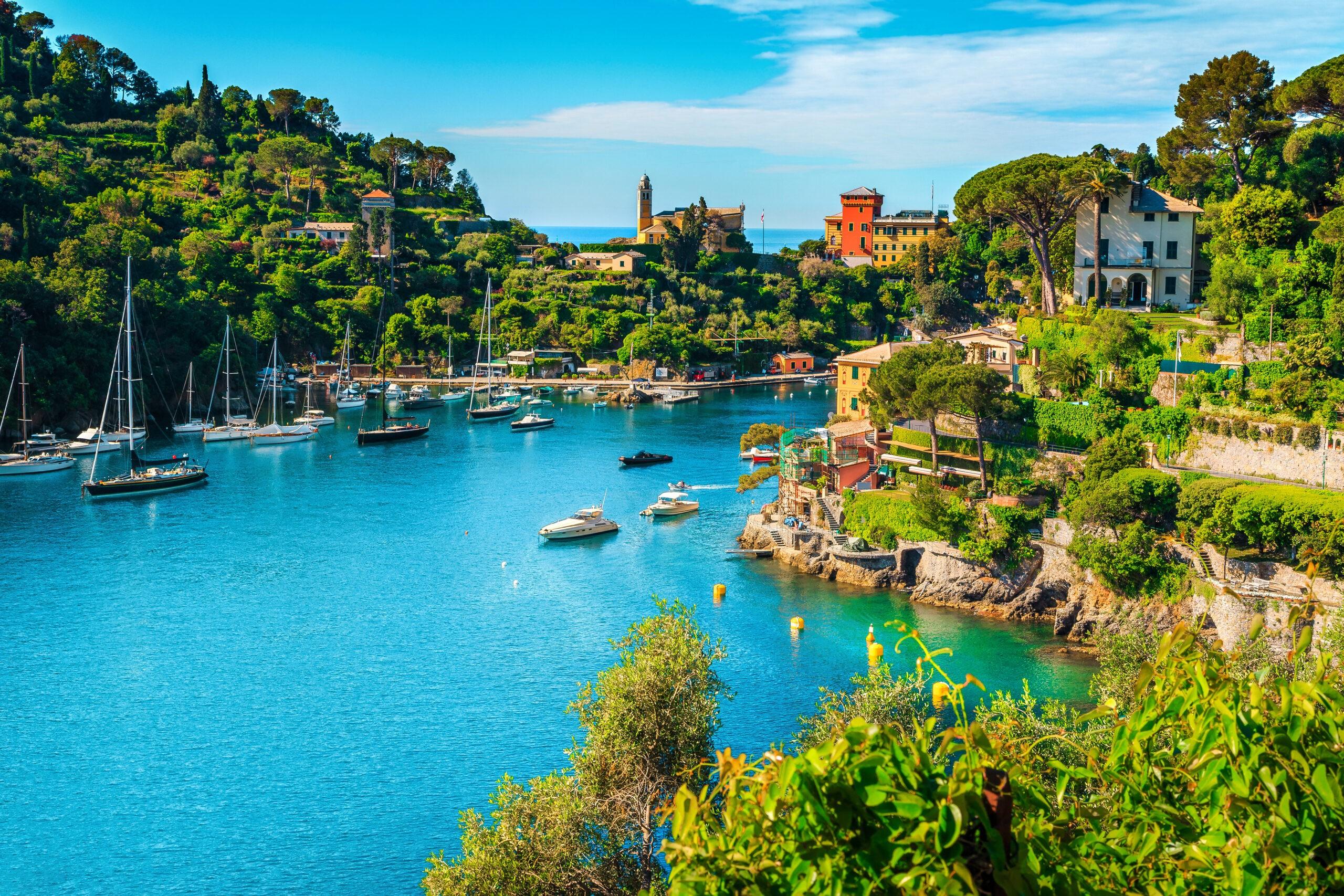 Malownicza zatoka w LIgurii, Włochy
